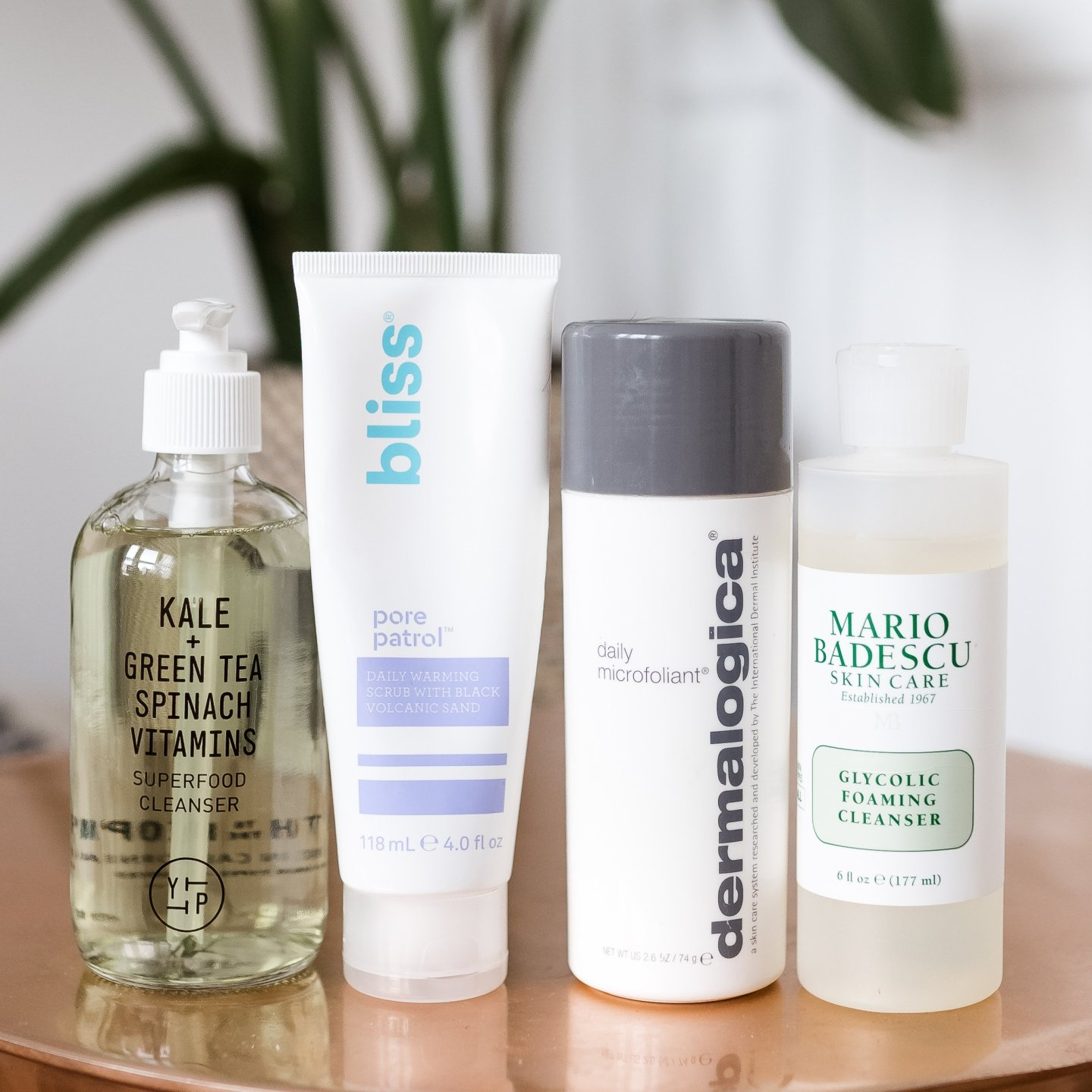 my updated skincare routine, YTTP superfood antioxidant cleanser, bliss pore patrol, dermalogica microexfoliant, mario badescu glycolic acid cleanser