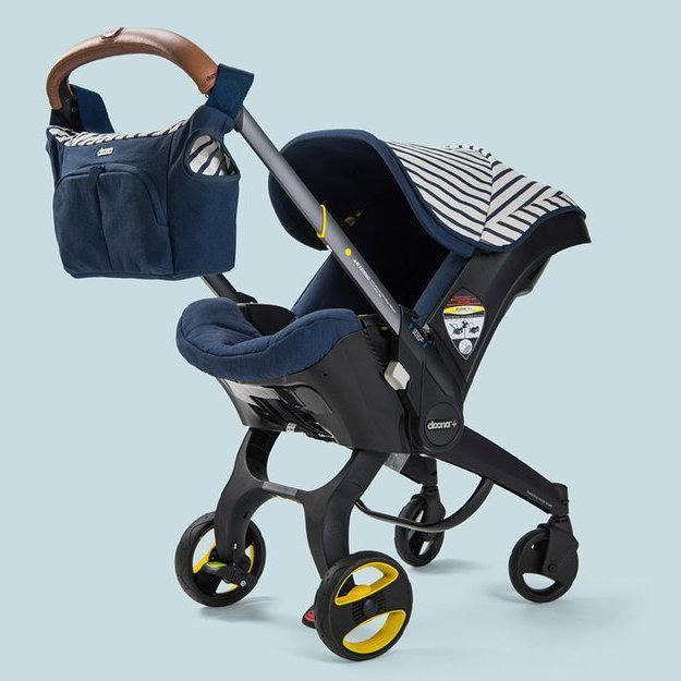 Black and Blue Baby Stroller and Bag from Shop Happy Mango Black Owned Baby Brand