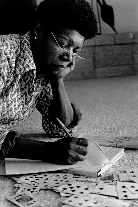 Maya Angelou writing