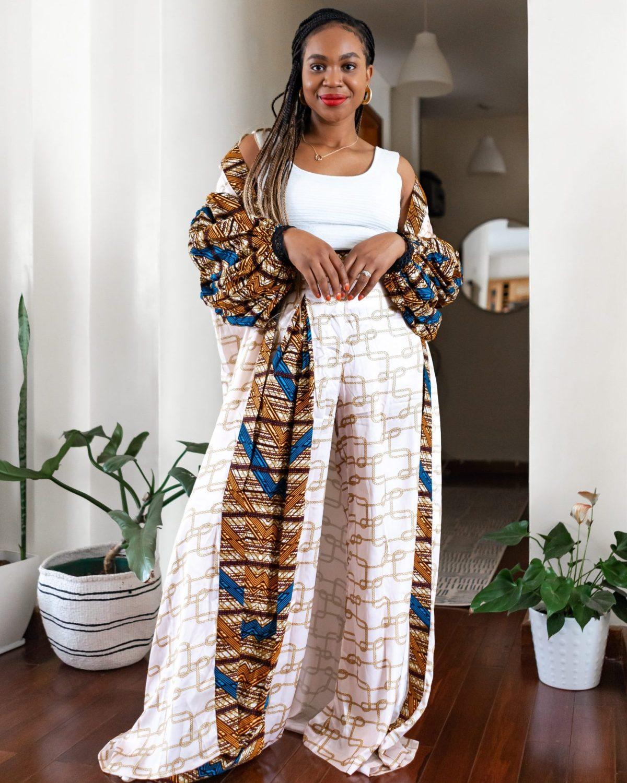 Ijeoma Kola in Christie Brown kimono set