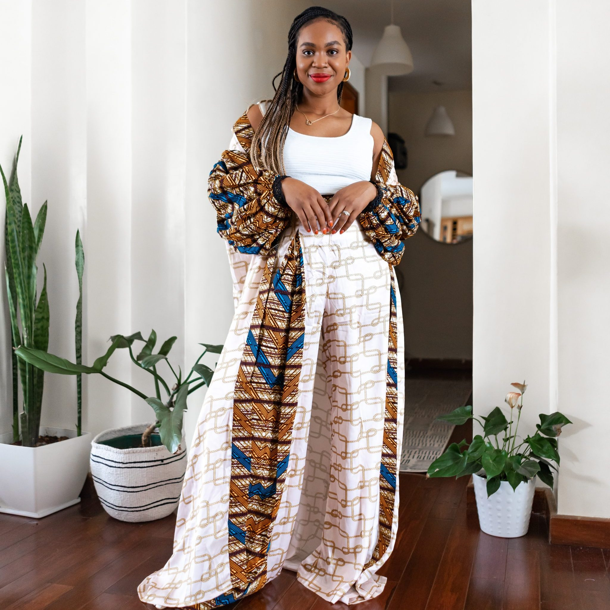 Ijeoma Kola in Christie Brown kimono set