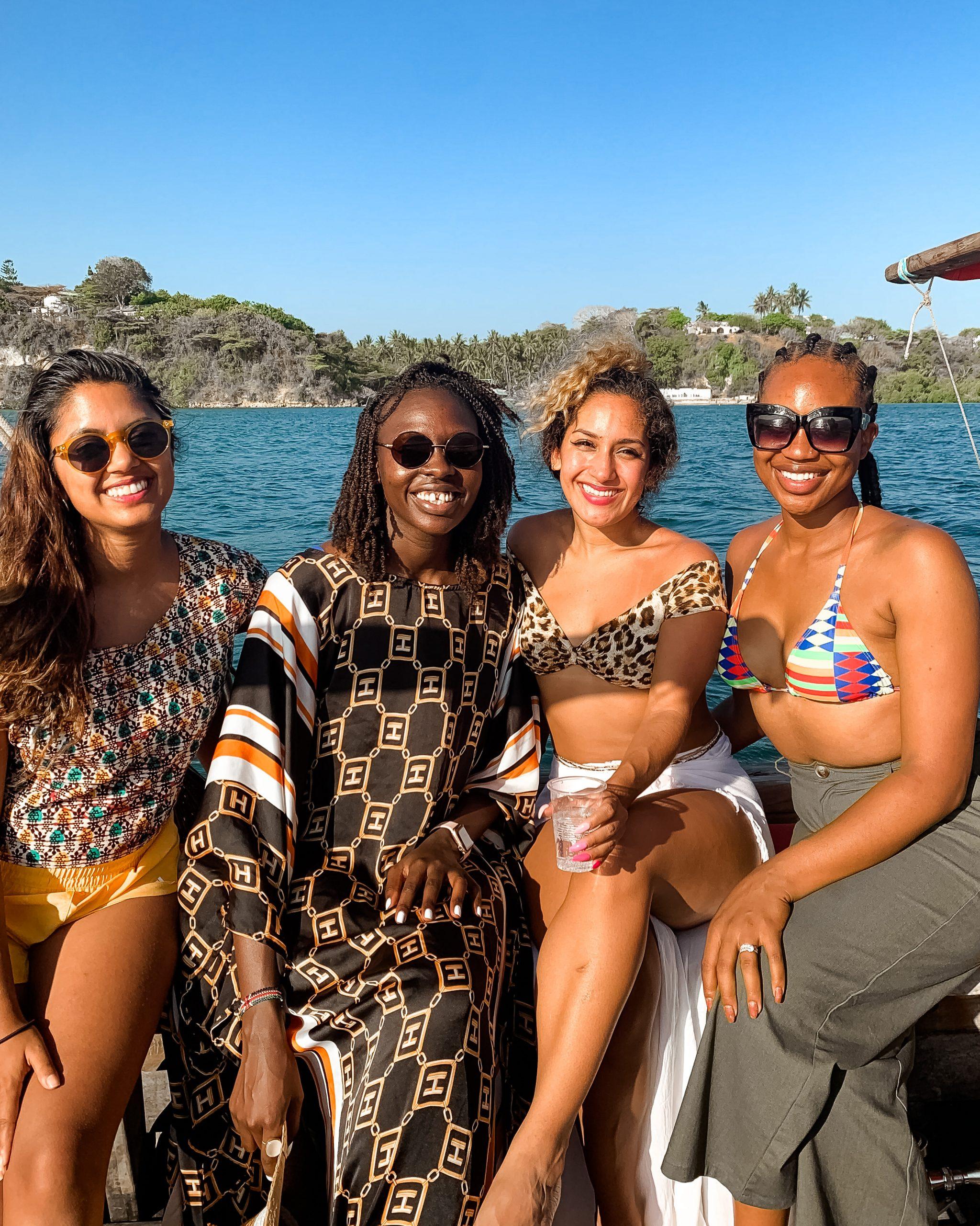 Ijeoma Kola and friends on girls trip in Kenya