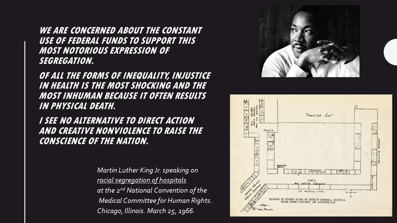 King's Words on Health Injustice: what did he actually say