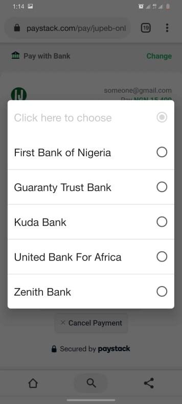 How Can I Get JUPEB Form - Select Bank