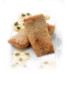 Gebakken Rogvleugel met blanke botersaus