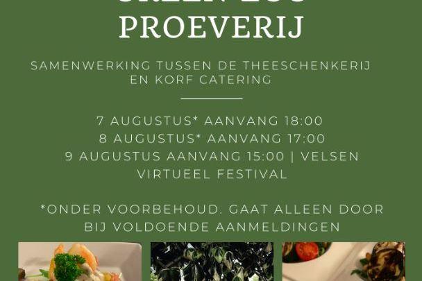 De Theeschenkerij Velserbeek en Korf Catering slaan de handen ineen tijdens het weekend van het Velsen Virtueel Festival.