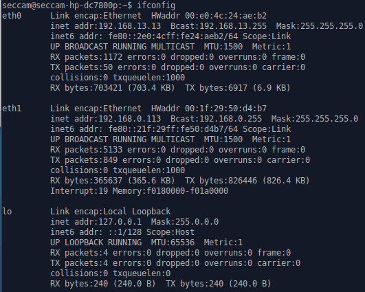 ifconfig working 20160321