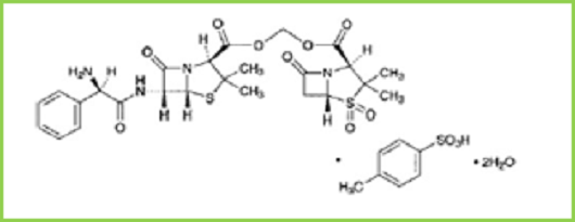 Fig.1: Chemical structure of Sultamicillin Tosylate Dihydrate