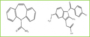 Figure 3: 1:1 Cocrystal formed by Carbamazepine and Indomethacin