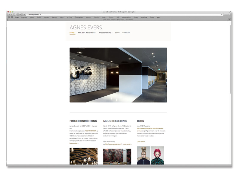 Website ontwerpster Agnes Evers