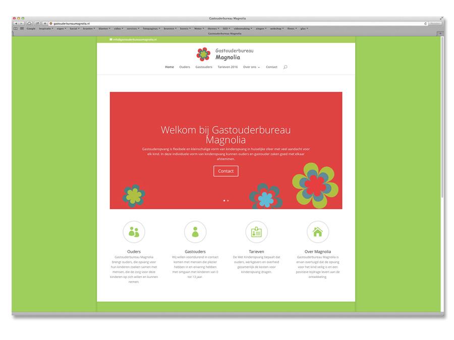 Website Gastouderbureau Magnolia