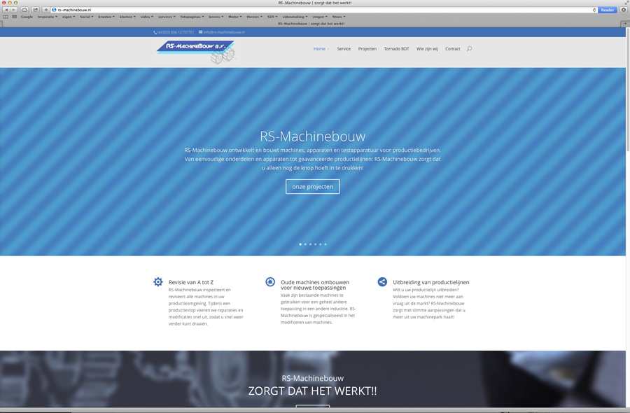 Website RS Machinebouw