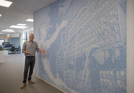 Creatie kunstwerk tbv wandbekleding kantoor