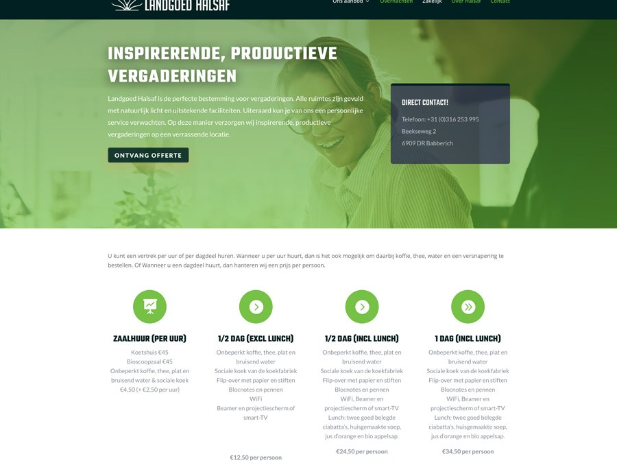 Nieuwe website Landgoed Halsaf