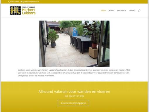 Ontwikkeling website Herbert Lubbers Tegelwerken