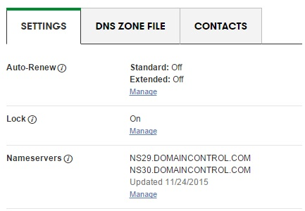Connect your domain using Nameservers