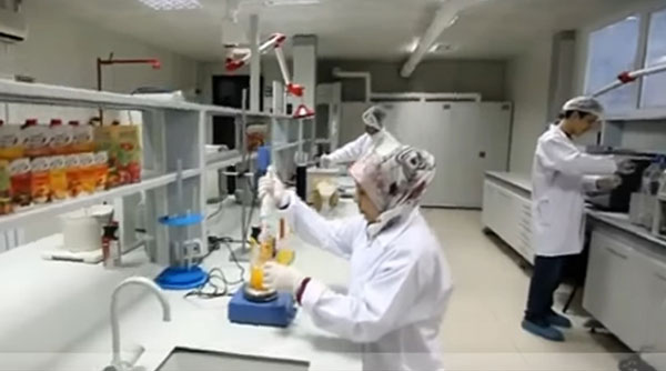 Fruit juice production-testing-lab