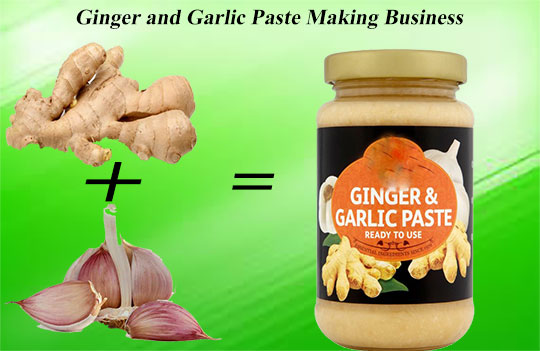 Ginger and garlic paste making business
