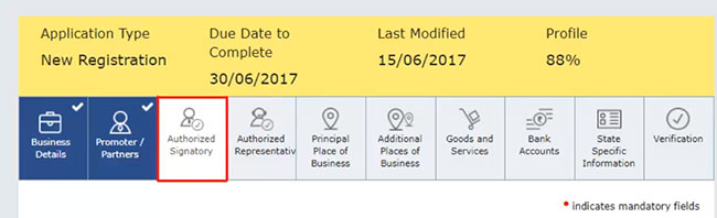 GST- new Registration step 12