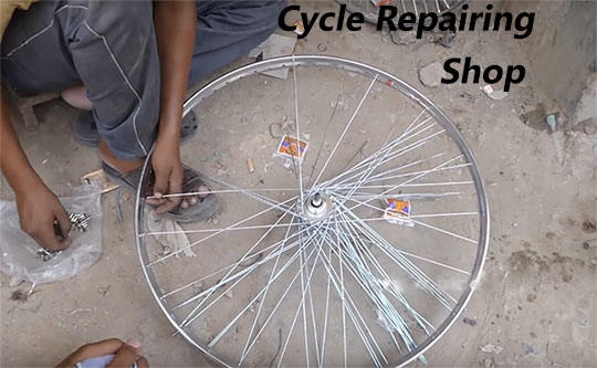 Cycle-repairing-shop