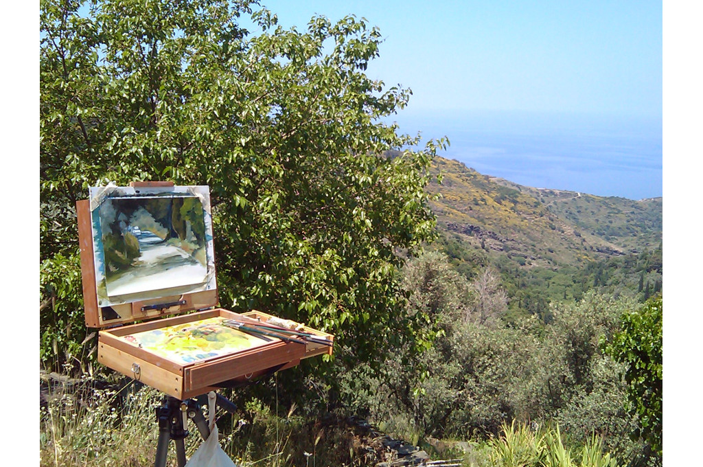 Painting course, island Ikaria 2018