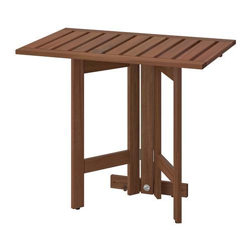 Applaro Table Pliante Fixations Murales D Teinture Marron Jardin 56x72 Cm 802 917 31 Avis Prix Ou Acheter