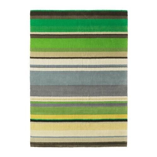 stockholm tapis poil court fait main vert