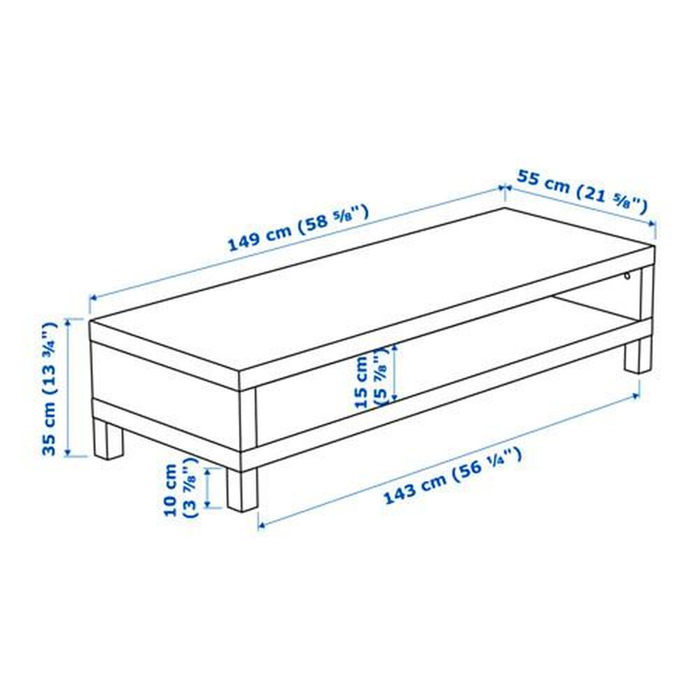 lack meuble tele blanc 149xxnnumxx55 cm
