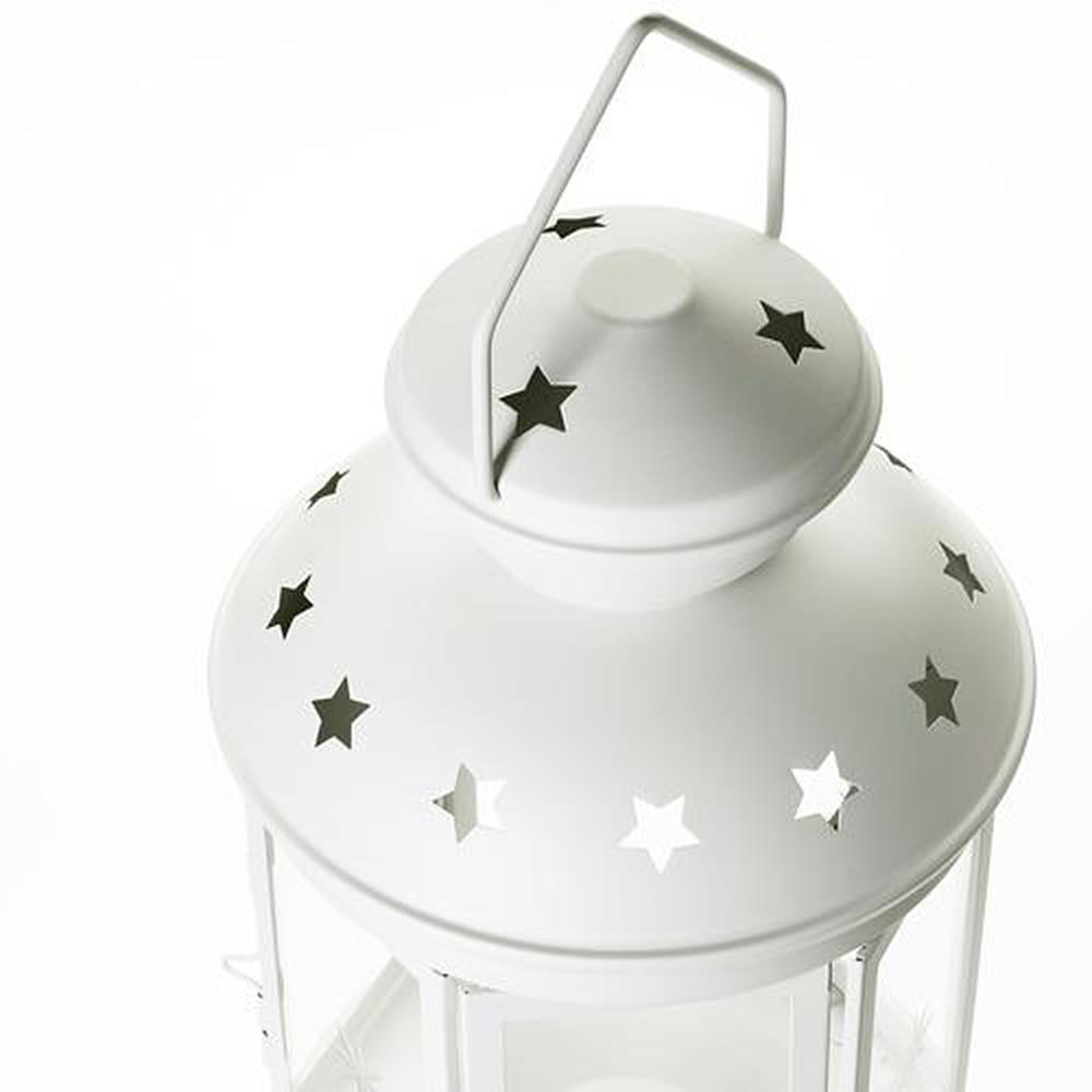 lanterne en fer blanc rotera d maison rue blanche 38 cm