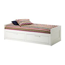 Brimnes Daybed With 2 Drawers Mattresses White Meistervik Firm