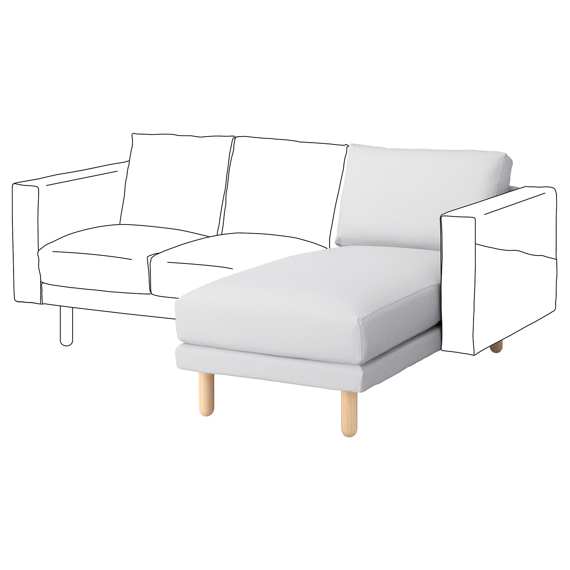 Hoes Chaise Longue Element Norsborg Finnsta Wit