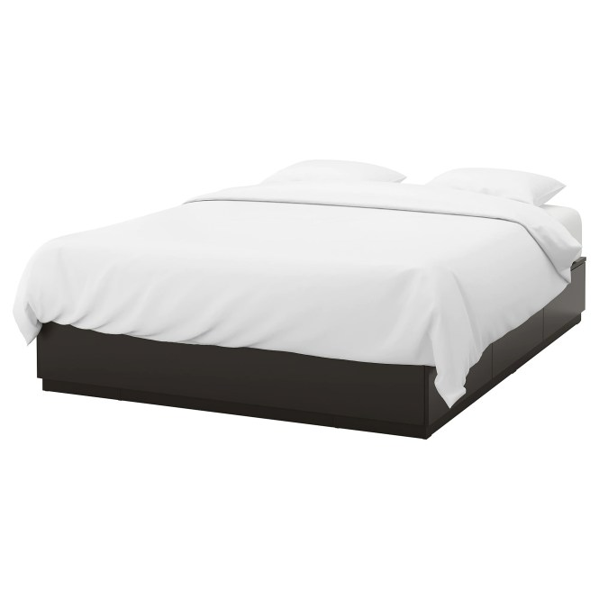 Nordli Bed Frame With Storage Anthracite