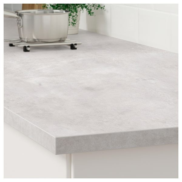 Ekbacken Countertop Light Gray Concrete Effect Laminate
