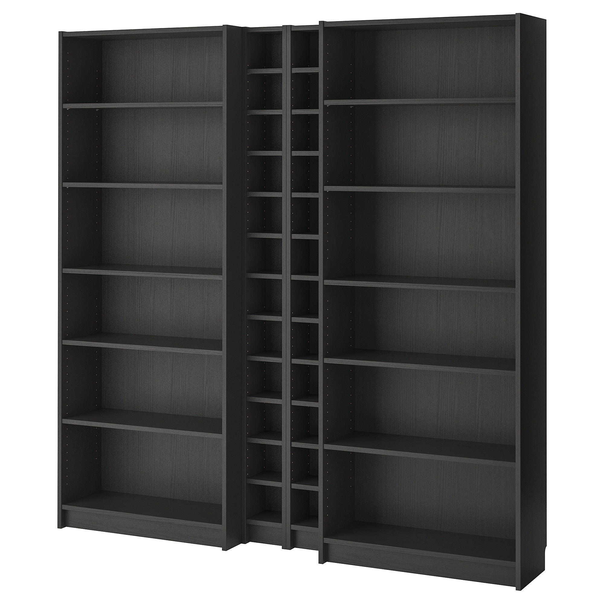 Billy Gnedby Bookcase Black Brown