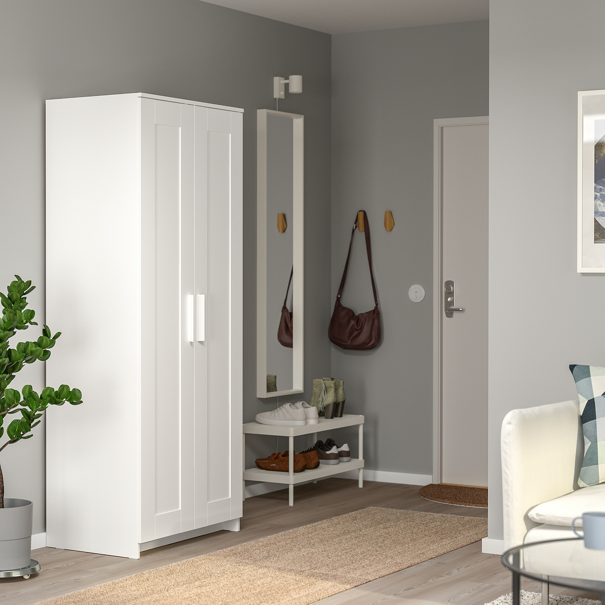 Wardrobe With 2 Doors Brimnes White