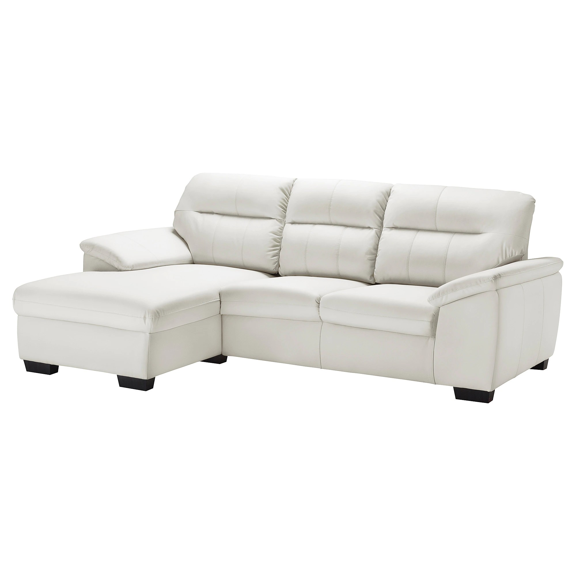 Two Seat Sofa With Chaise Longue Malviken Kimstad Off White