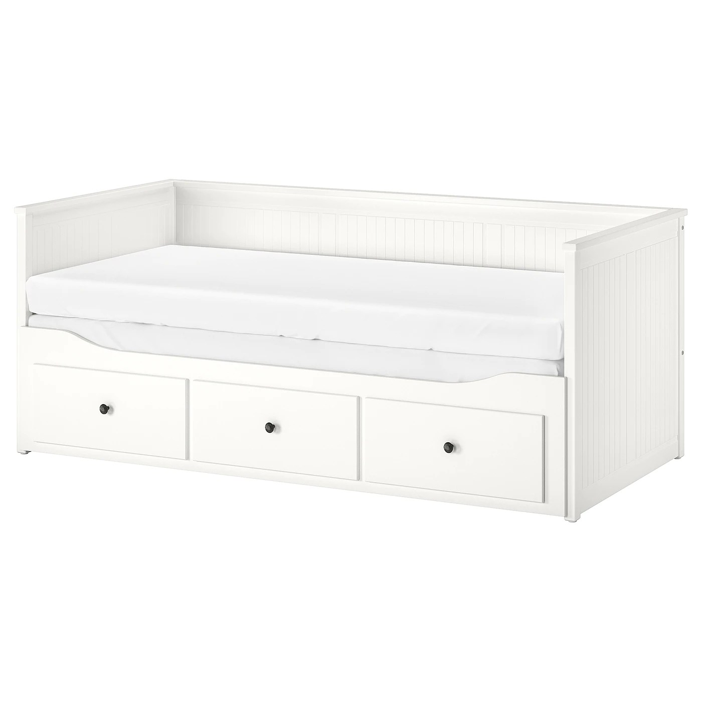 Day Bed Frame With 3 Drawers Hemnes White