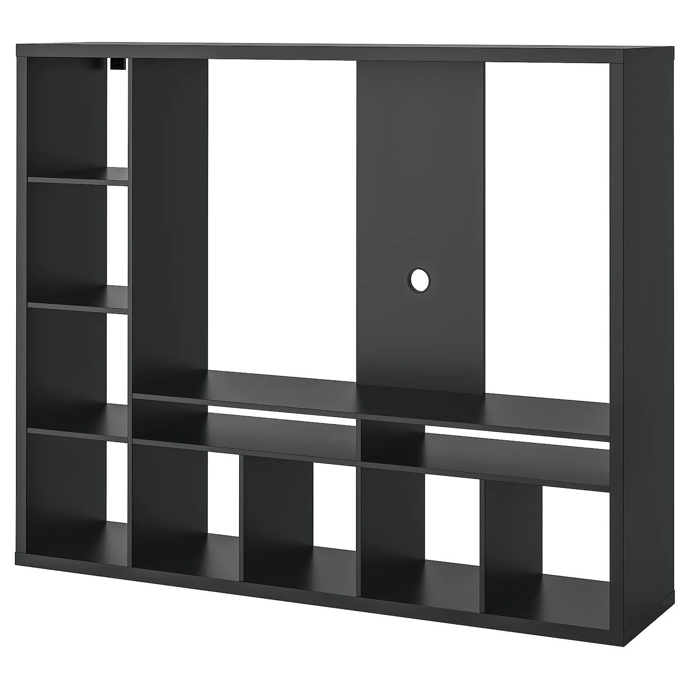 lappland tv mobel schwarzbraun 183x39x147 cm