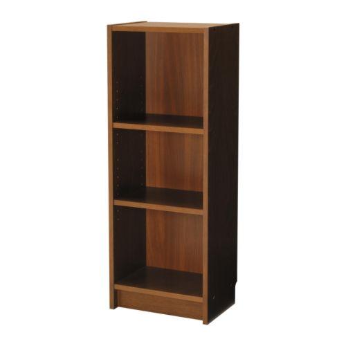 BILLY Bookcase, medium brown Width: 40 cm Depth: 28 cm Height: 106 cm Max. load/shelf: 15 kg