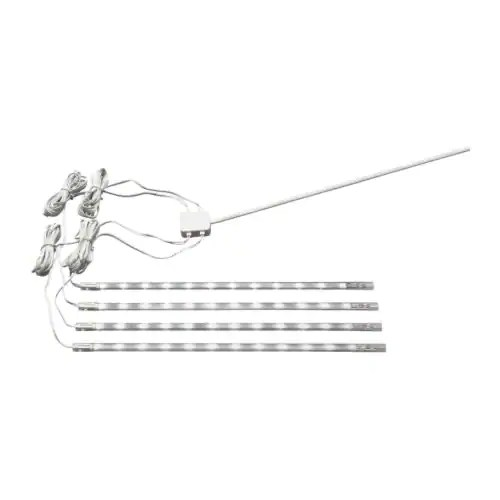 DIODER 4-piece lighting strip set, white Length: 25 cm