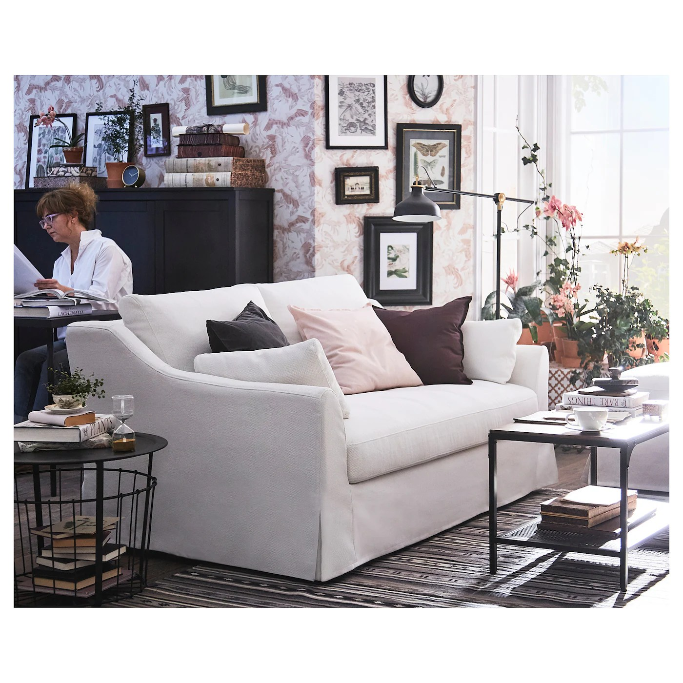 This compensation may impact how and where products appear on th. FÄRLÖV 2-seat sofa, Flodafors white - IKEA