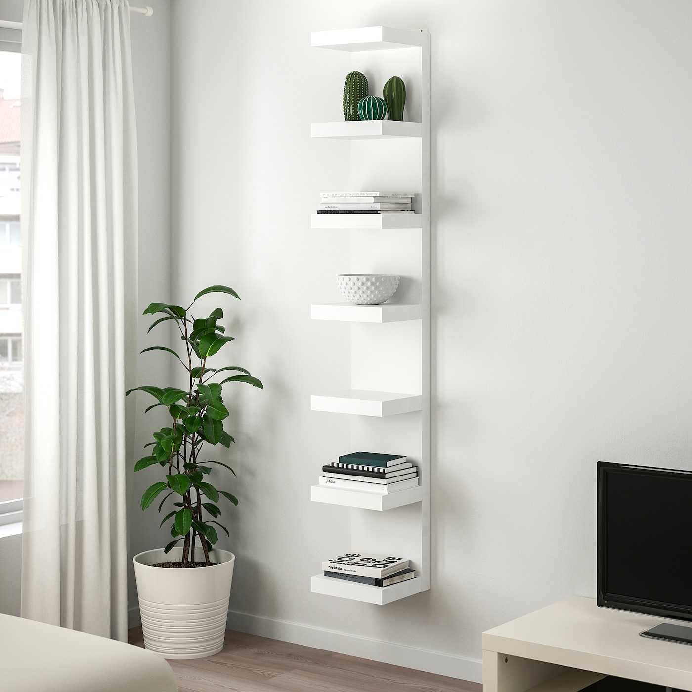 Lack Wall Shelf Unit White 30x190 Cm Ikea