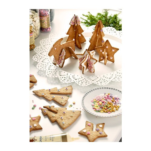 SNÖKUL Pastry cutter, set of 6 IKEA You can slot the cookies together to make a standing cookie shape.