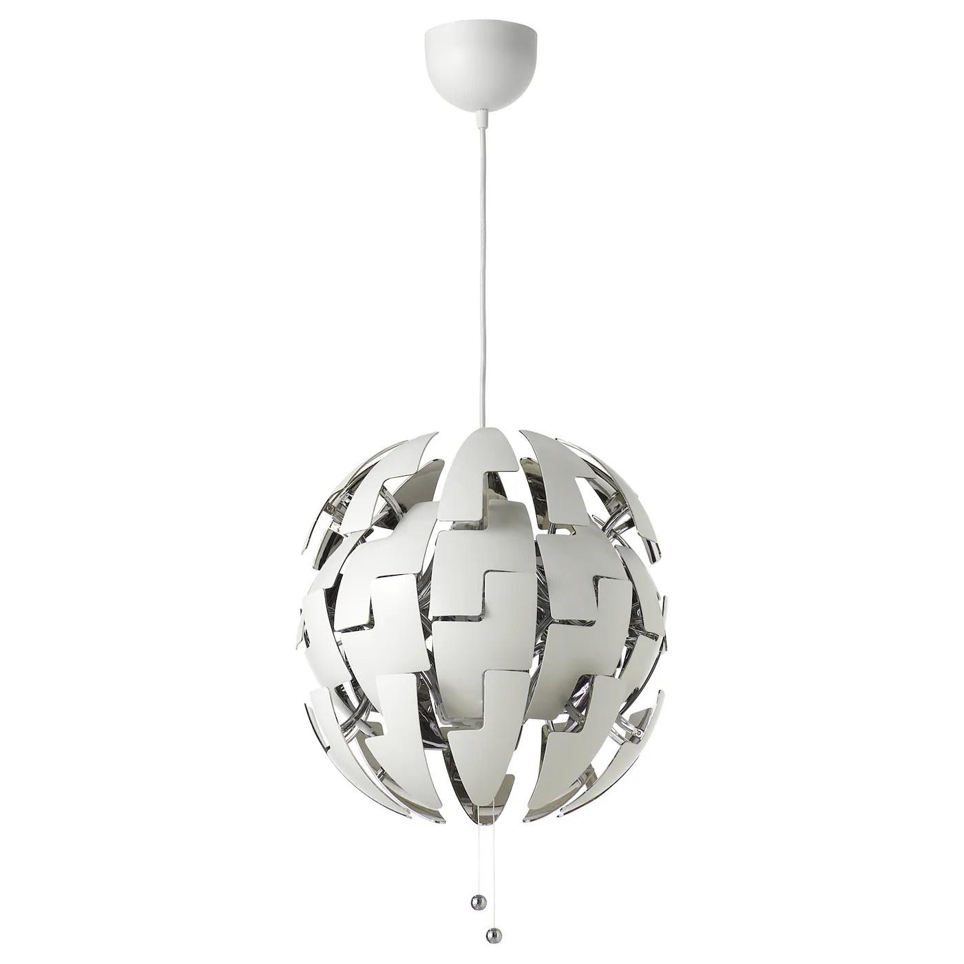 ikea ps 2014 suspension blanc couleur argent 35 cm