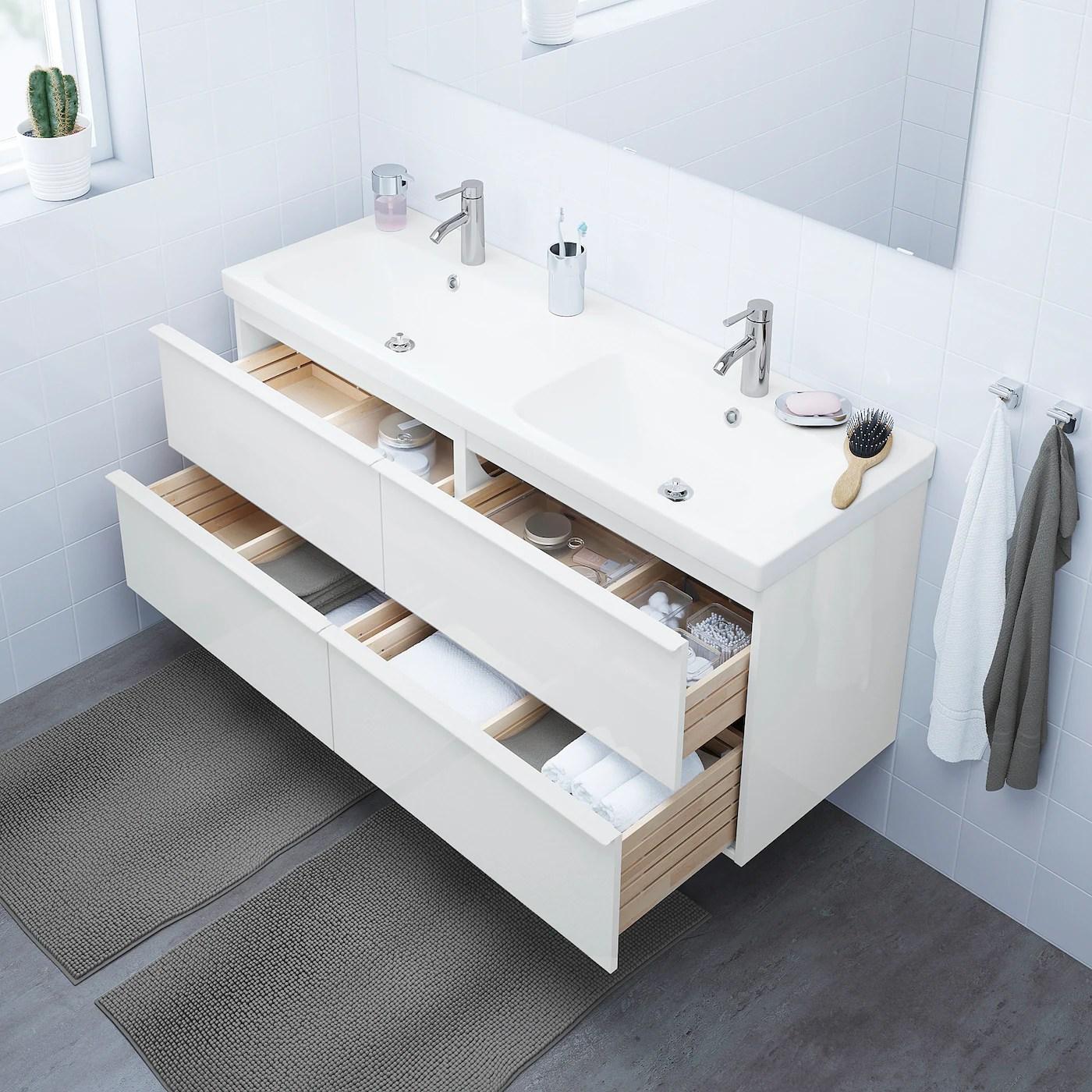 godmorgon bathroom vanity high gloss white 55 1 8x18 1 2x22 7 8 140x47x58 cm