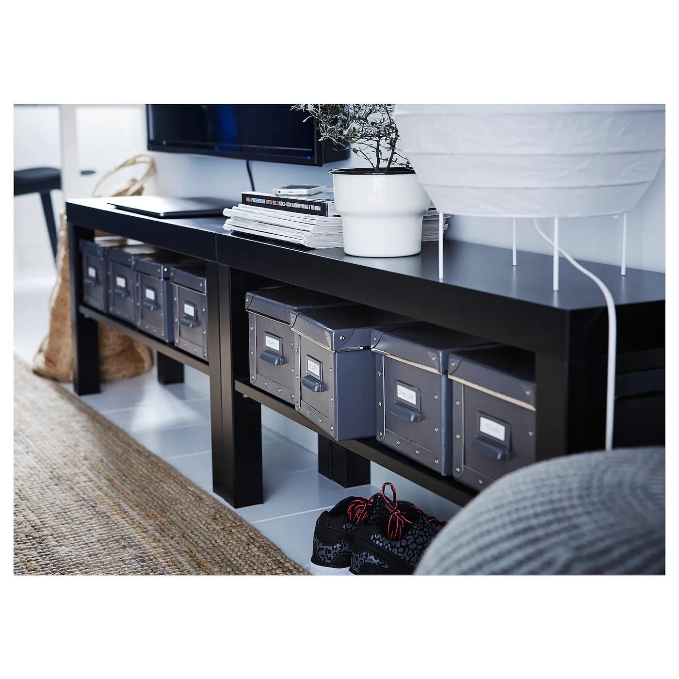 lack tv bench black 35 3 8x10 1 4x17 3 4 90x26x45 cm