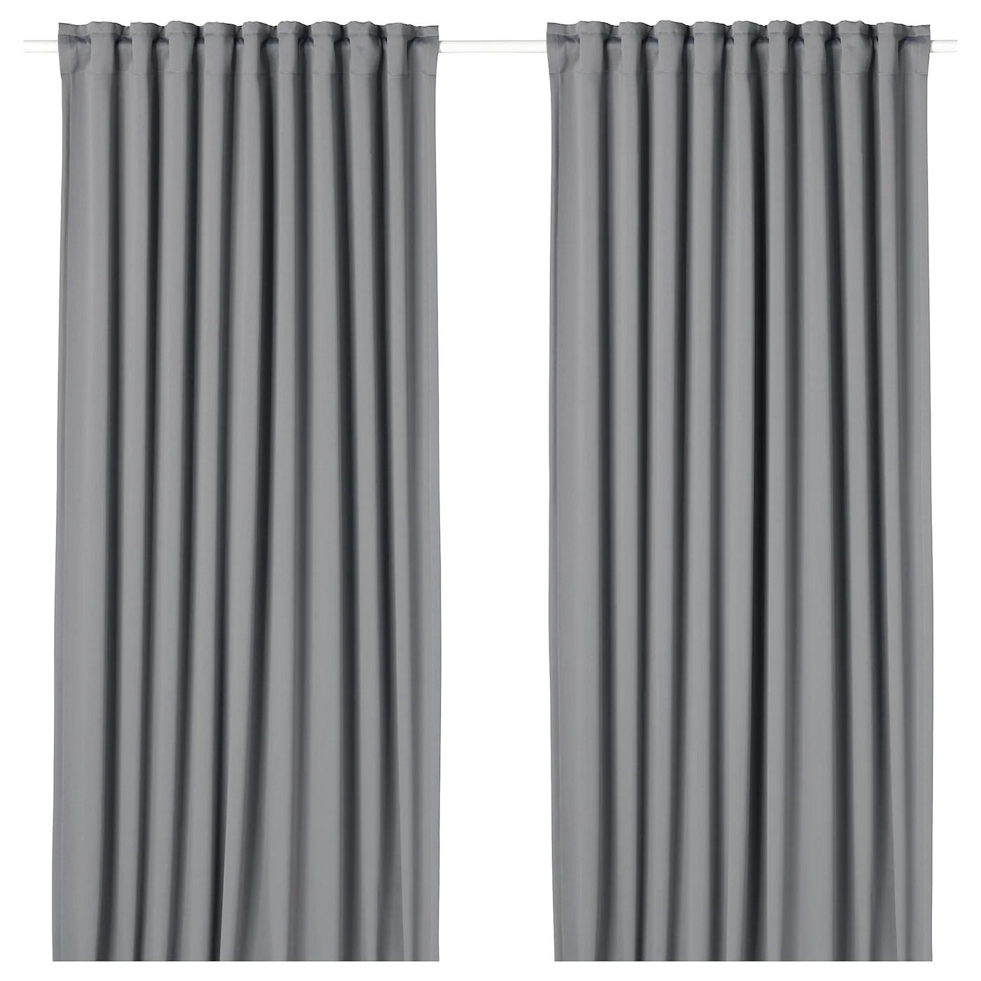 majgull blackout curtains 1 pair gray 57x98 145x250 cm