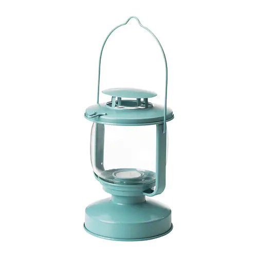 MÖRKT Lantern for tealight IKEA Suitable for both indoor and outdoor use.