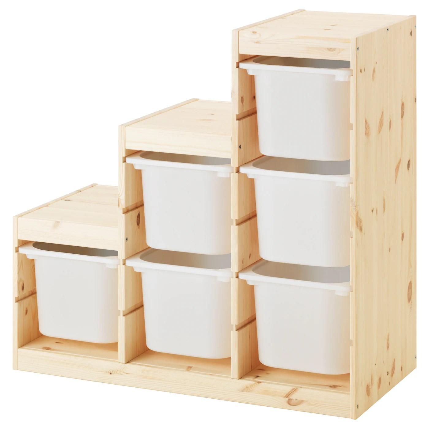 trofast storage combination light white stained pine white 37x17 3 8x35 7 8 94x44x91 cm