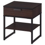 Trysil Nightstand Dark Brown Black Ikea